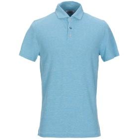 《期間限定セール開催中!》HERITAGE メンズ ポロシャツ アジュールブルー 50 コットン 80% / 麻 20%