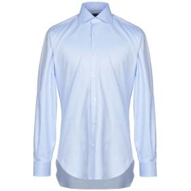 《期間限定 セール開催中》BARBA Napoli メンズ シャツ スカイブルー 40 コットン 100%