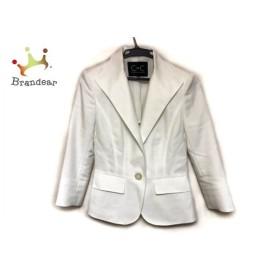 クードシャンス ジャケット サイズ38 M レディース 美品 アイボリー 肩パッド 新着 20190812