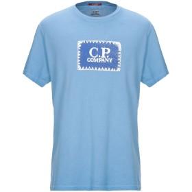 《9/20まで! 限定セール開催中》C.P. COMPANY メンズ T シャツ パステルブルー XL コットン 100%