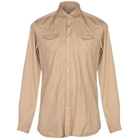 《期間限定セール開催中!》DANIELE ALESSANDRINI メンズ シャツ サンド 40 コットン 98% / ポリウレタン 2%