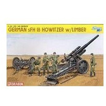 中古プラモデル 1/35 ドイツsFH18 重榴弾砲 w/リンバー(スマートキット) [6392]