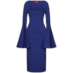 《セール開催中》SOLACE LONDON レディース 7分丈ワンピース・ドレス ブルー 12 レーヨン 56% / ナイロン 42% / ポリウレタン 2%