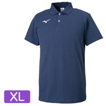 ポロシャツ ネイビー×ホワイト【ユニセックス】 サイズ:XL 32MA919514XL