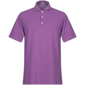 《期間限定セール開催中!》ALTEA メンズ ポロシャツ パープル M コットン 100%