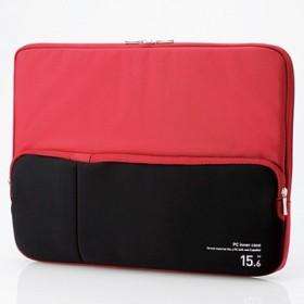 PC用インナーバッグ/ポケット付/15.6インチ/レッド BM-IBPT15RD