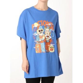 ジュエティ TMpaint Tシャツ レディース ブルー M 【jouetie】