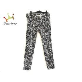 ドゥロワー Drawer パンツ サイズ40 M レディース 新品同様 黒×白   スペシャル特価 20191105