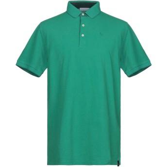 《9/20まで! 限定セール開催中》GRAN SASSO メンズ ポロシャツ エメラルドグリーン 56 コットン 100%