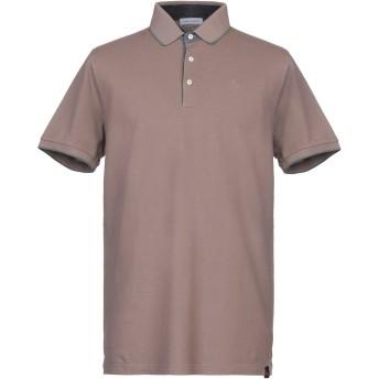《セール開催中》GRAN SASSO メンズ ポロシャツ カーキ 56 コットン 100%