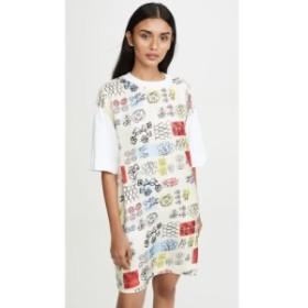 マルニ Marni レディース ワンピース ワンピース・ドレス Graphic Print Shirt Dress Lily White/Ivory
