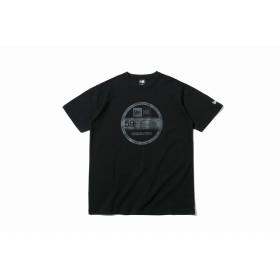 【ニューエラ公式】 コットン Tシャツ タイガーストライプカモグレー バイザーステッカー ブラック メンズ レディース Medium 半袖 Tシャツ 12108178 NEW ERA