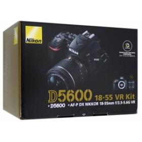 【中古即納】送料無料 ニコン Nikon デジタル一眼レフカメラ D5600 18-55 VR レンズキット 元箱あり ブラック WiFi対応 ニコン Fマウント