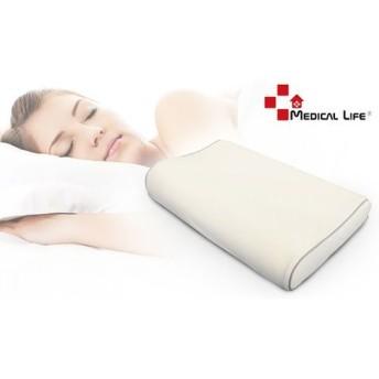 【2サイズ展開】ひんやり&もっちりな感触が気持ちいい。枕の向きを変えることで首元の高さが変えられるので、しっくりとくる寝姿勢が見つかる《高さが選べるMEDICAL LIFE ピロー 冷感タイプ》 ライフスタイル 寝具 枕・抱き枕 - 選択してください - S M au WALLET Market