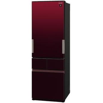 どっちもドア 4ドア冷蔵庫(415L) グラデーションレッド【大型商品(設置工事可)】 SJ-GT42E-R