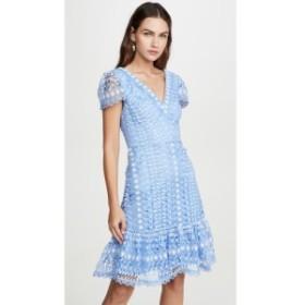 テンパリー ロンドン Temperley London レディース ワンピース ワンピース・ドレス Bamboo Lace Mini Dress Sky