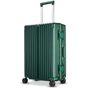 Langxj hj スーツケース キャリーバッグ 超軽量 TSAロック搭載 ファスナータイプ 6021 (XXL, ビリジャン)