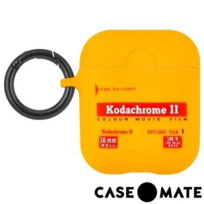 美國 CASE●MATE AirPods 柯達聯名款保護套- 經典黃色 贈掛環及磁性防丟繩