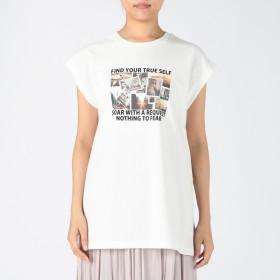 INGNI イング フレンチスリーブ転写プリントチュニックTシャツ