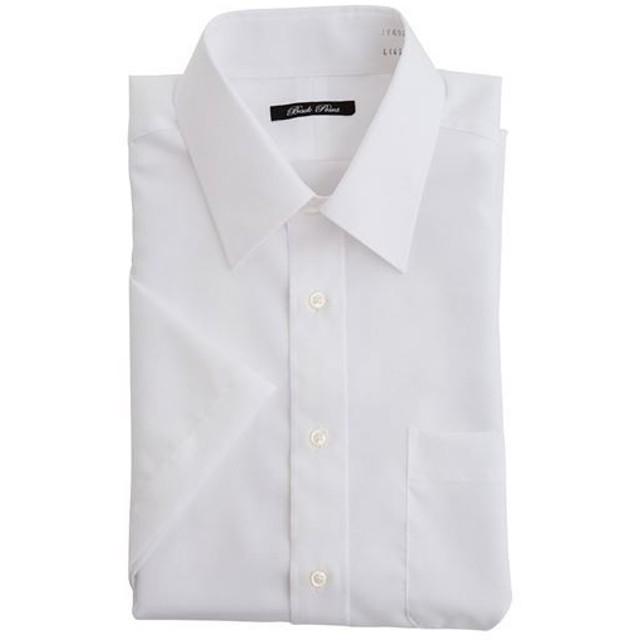 【メンズ】 綿100%形態安定Yシャツ(半袖)(お手入れ簡単ワイシャツ) - セシール ■カラー:ホワイトA(レギュラー衿) ■サイズ:4L,L,5L,LL,3L,M