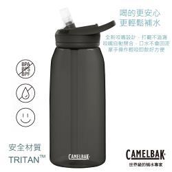 【CAMELBAK】1000ml eddy+多水吸管水瓶 濃黑(CB1644001001)