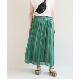 【スピック&スパン/Spick & Span】 glossy サテンプリーツスカート