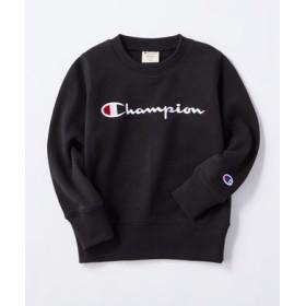 Champion ロゴスウェット キッズ ブラック
