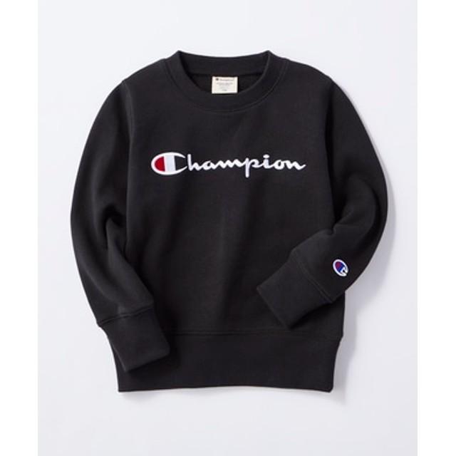 Champion 【期間限定キッズスウェット2枚目半額 10月15日まで!】ロゴトレーナー キッズ ブラック