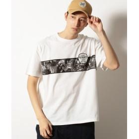 (COMME CA ISM/コムサイズム)フォトプリント半袖ビッグTシャツ/ユニセックス アイボリー
