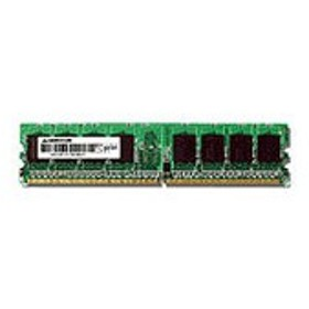 (まとめ)グリーンハウス PC2-4200533MHz 240Pin DDR2 SDRAM ECC DIMM 1GB GH-DS533-1GECF 1枚【×3セット】