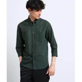TAKEO KIKUCHI(タケオキクチ) 綿麻 シャドー ストライプ 七分袖 シャツ