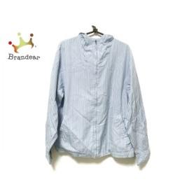 コムデギャルソンシャツ ブルゾン サイズS レディース ライトブルー×白×ブルー 新着 20190812