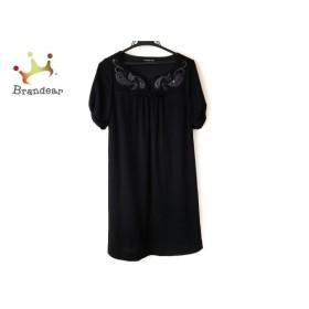 ヴィヴィアンタム VIVIENNE TAM ワンピース サイズ0 XS レディース 美品 黒 刺繍/スパンコール 新着 20190812