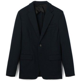 ESTNATION / ウール混ストレッチジャージセットアップジャケット ネイビー/LARGE(エストネーション)◆メンズ テーラードジャケット