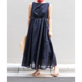 ノースリーブロングドレス