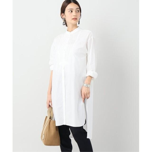 VERMEIL par iena 【CASA FLINE/カーサフライン】オーガニックコットンスリットロングシャツ◆ ホワイト フリー