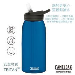 【CAMELBAK】1000ml eddy+多水吸管水瓶 牛津藍(CB1644401001)