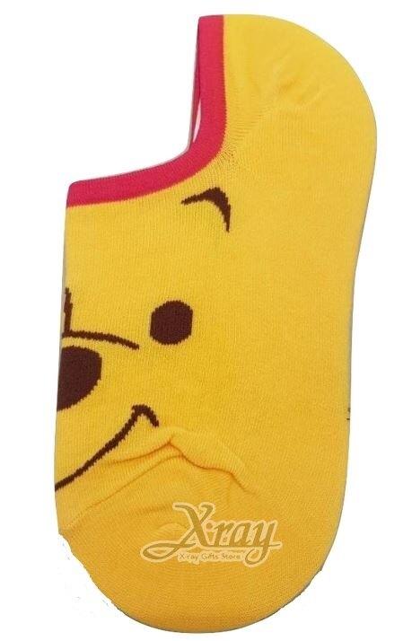 X射線【C099299】小熊維尼Winnie the Pooh矽膠止滑隱形襪,短襪/船型襪/卡通襪子/運動襪/長襪
