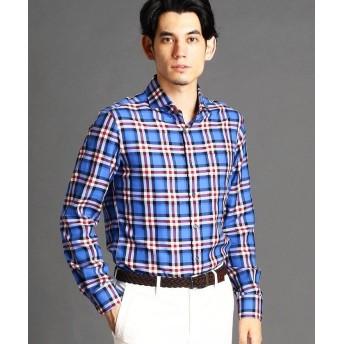 ムッシュニコル チェック柄アラカルトシャツ メンズ 60ブルー 50(LL) 【MONSIEUR NICOLE】