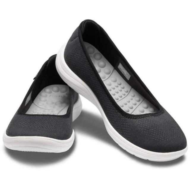 【クロックス公式】 クロックス リバイバ フラット ウィメン Women's Crocs Reviva Flat ウィメンズ、レディース、女性用 ブラック/黒 22cm,23cm,24cm,25cm flat フラットシューズ バレエシューズ ぺたんこシューズ