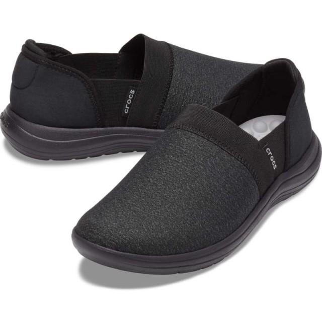 【クロックス公式】 クロックス リバイバ スリップオン ウィメン Women's Crocs Reviva Slip-On ウィメンズ、レディース、女性用 ブラック/黒 21cm,22cm,23cm,24cm,25cm shoe 靴 シューズ