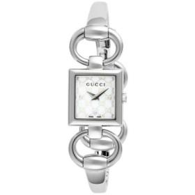 (Import Super Bargain/インポートスーパーバーゲン)グッチ 腕時計 YA120517○/レディース ホワイトパール