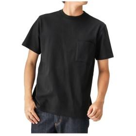 【25%OFF】 マックハウス GOODWEAR ポケ付きレギュラー半袖Tシャツ 2W7 2500 18FW メンズ ブラック M 【MAC HOUSE】 【セール開催中】