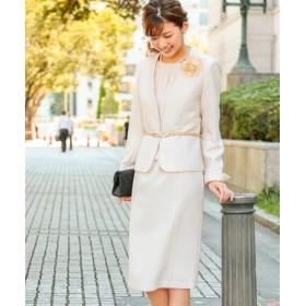 【入園。入学。卒園。卒業】フォーマルアンサンブル(ベルト付カラーレスジャケット+前開きワンピース) セレモニースーツ(式服・受験・七五三・発表会),women's suits ,plus size