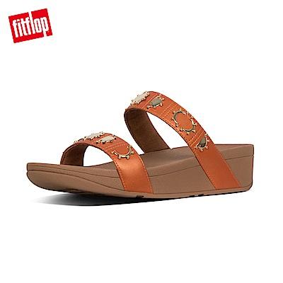 FitFlop CRESCENT STUD SLIDES 橙色 拖鞋