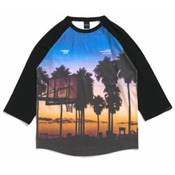 アップルバム APPLEBUM Sunset Playground Raglan 3/4 Sleeve Tee Tシャツ MULTI マルチ メンズ 850004098059 TOPS
