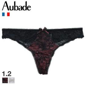 【メール便(3)】 (オーバドゥ)Aubade Courbes Divines Tバック ショーツ 総レース タンガ 単品