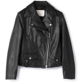 ESTNATION / ラムレザーライダースジャケット ブラック/36(エストネーション)◆レディース ライダースジャケット