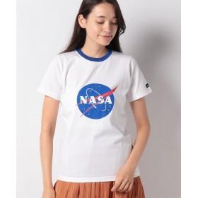 エックスガール X giri x NASA MEATBALL LOGO S/S REGULAR TEE レディース ホワイト 1 【X-girl】