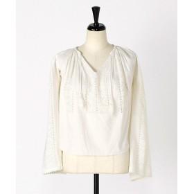 <mericca/メリッカ(ヴィンテージ)> 1950s前後 ヴィンテージ ルーマニアンブラウス 白x白刺繍 【三越・伊勢丹/公式】